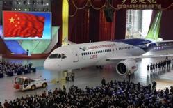 La Chine présente son avion concurrent de l'A320 et du B737