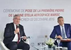 Pose de la première pierre de la deuxième usine de Stelia Aerospace au Maroc