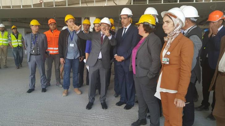 COP 22: Rabbah visite le chantier du Terminal1 de l'aéroport Mohammed V
