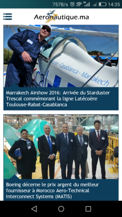 Marrakech Airshow 2016: Aeronautique.ma fête son 10ème anniversaire et lance son appli mobile