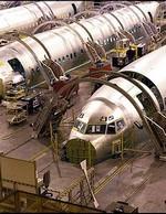 Des 737 dans l'usine de Boeing à Wichita