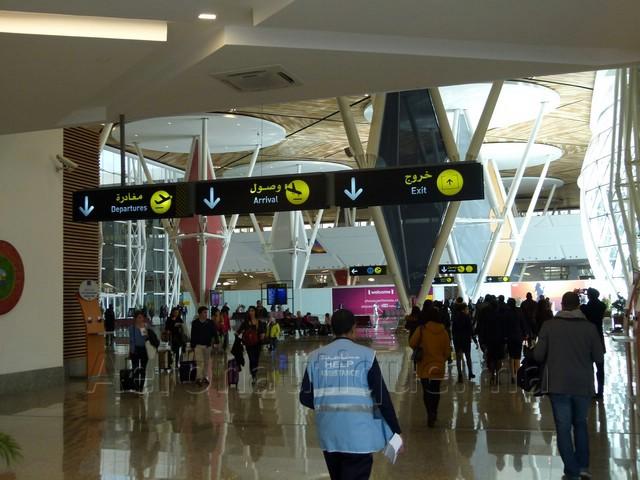 Visite guidée à travers le nouveau terminal de l'aéroport Marrakech Menara