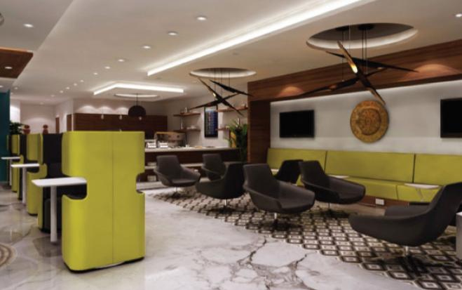 Design du Salon d'arrivée de l'aéroport MohammedV