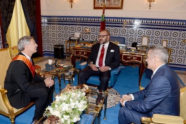 Signature de l'accord pour la création d'un écosystème aéronautique de Boeing au Maroc en présence du Roi MohammedVI