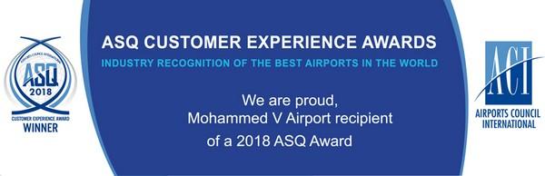 L'aéroport Mohammed classé meilleur aéroport d'Afrique par un sondage ASQ « Airport Service Quality »