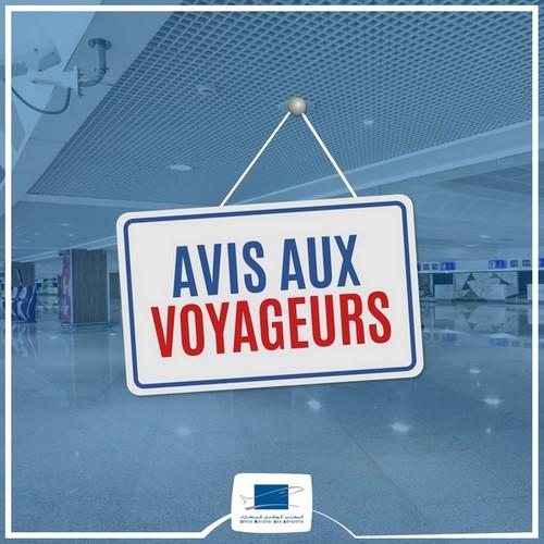 Suspension par les autorités marocaines des vols en provenance et à destination de l'Algérie et de l'Égypte et ce, jusqu'au 21/03/21. Sont également concernés les passagers en provenance de ces pays à travers un autre pays. #ONDA #StaySafe