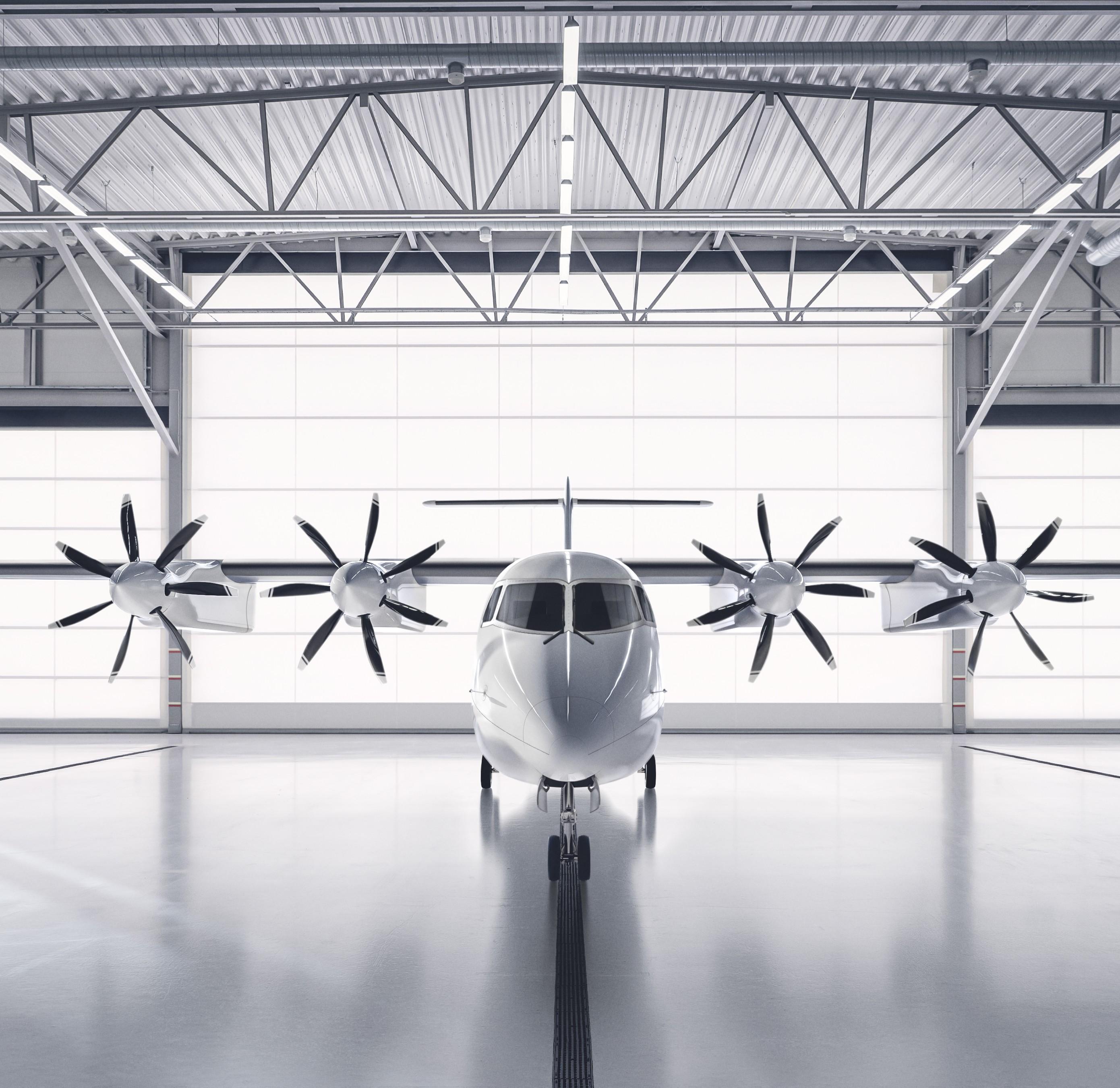 Ph. Heart Aerospace - ES-19 in Hangar