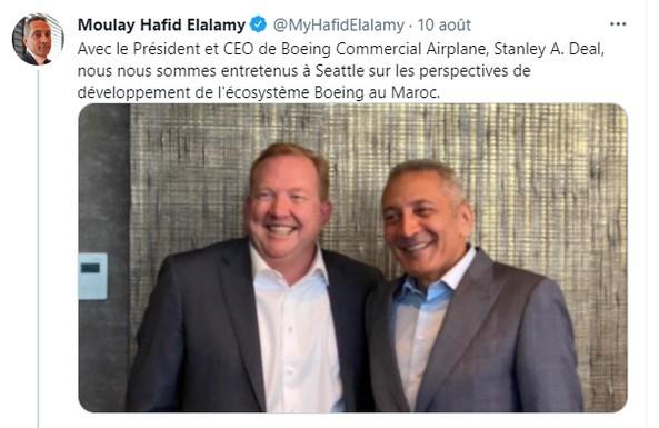 Elalamy aux États-Unis pour promouvoir la plateforme aéronautique Marocaine