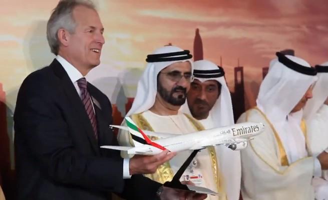 Salon aéronautique de Dubaï: Les compagnies du golfe font le bonheur d'Airbus et Boeing