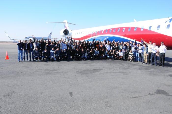 Bombardier Aéronautique Maroc accueille un avion CRJ1000 NextGen à l'aéroport Mohammed V