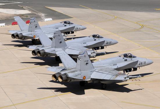 Maroc - Espagne: Opérations aériennes combinées dans le ciel de Meknès dans le cadre d'ATLAS 2014