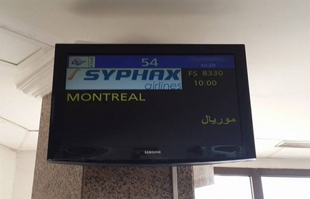 Syphax Airlines: Problème de rentabilité de la ligne Tunis -Montréal