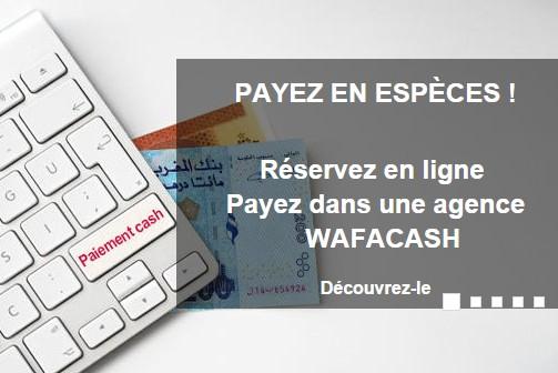 Royal Air Maroc: Reservez en ligne et payez en espèces dans une agence Wafacash