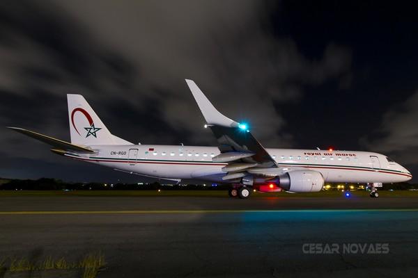 Royal Air Maroc reçoit le premier des quatre avions neufs de type Embraer E190