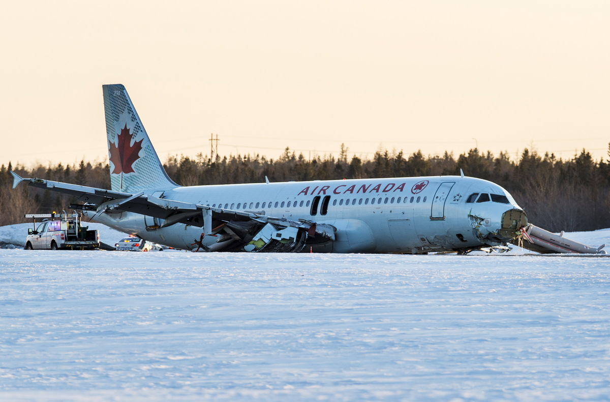 L 39 atterrissage sur la carlingue d 39 un a320 au canada fait for Interieur avion air canada
