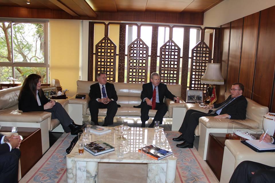 Mohamed Najib Boulif s'entretient avec des dirigeants du groupe Boeing