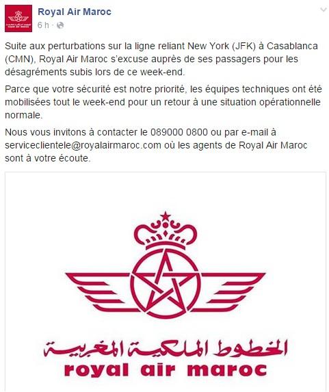 Royal Air Maroc: Retard cumulé de 36 heures sur le vol New-York - Casablanca
