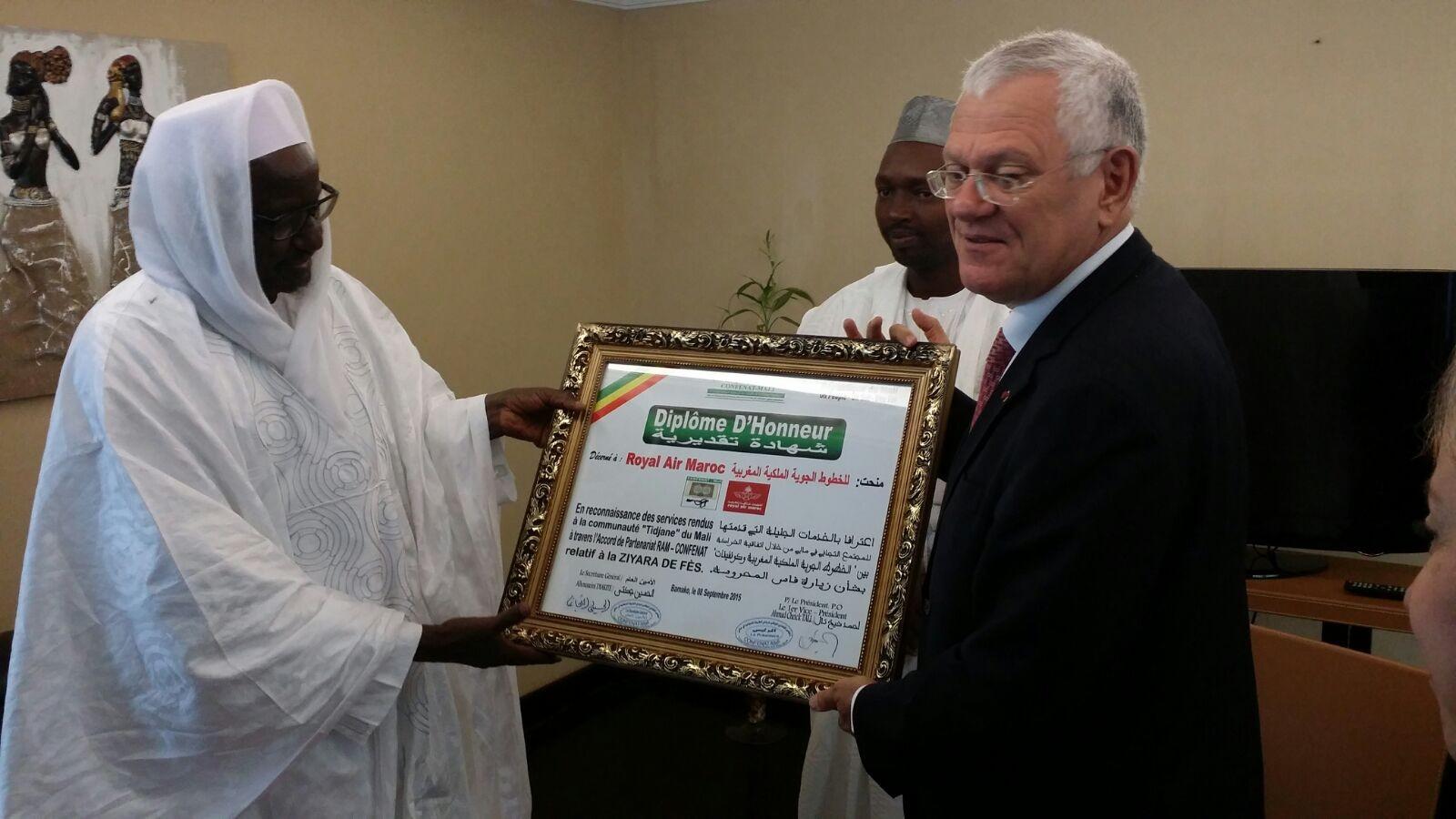 Royal Air Maroc renforce son partenariat avec la Tariqa des Tidjanes du Mali