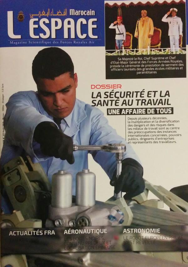Le numéro 82 de l'Espace Marocain, magazine des Forces Royales Air, est disponible en kiosque