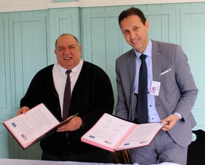 Mr Talal Masri (Directeur de l'ENIT) et Mr Menou (Directeur de l'AIAC)