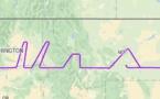 Un pilote américain écrit le nom MAX dans le ciel avec un...B737-8 MAX