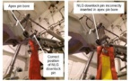 Chute sur le nez d'un B787: Le mécanicien trop petit pour monter la goupille de vérouillage