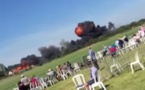 Un Hawker Hunter s'écrase sur une route au Royaume-uni