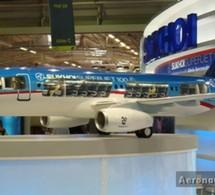 Bourget 2009: Premier vol de démonstration du SuperJet-100 russe