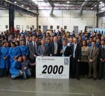 Production du 2000ème inverseur de poussée BR710 à Aircelle Maroc