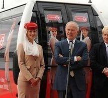 """Le nouveau téléphérique de Londres s'appelle """"Emirates Air Line"""""""