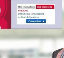 Royal Air Maroc lance l'enregistrement en ligne ou webcheck-in