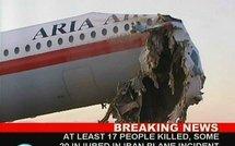 Nouvel accident d'un avion civil iranien: 17 morts et 19 Blessés