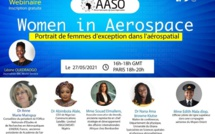 """Femme dans l'aérospatial"" intitulé d'un webinar de l'African Aeronautics & Space Organisation (AASO)"