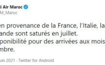 Royal Air Maroc: Les vols en provenance de quatre pays européens sont saturés en juillet