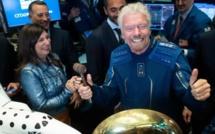 Richard Branson enfin dans l'espace à bord du vaisseau VSS Unity