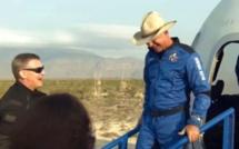 Jeff Bezos réussi son vol vers l'espace à bord de la fusée New Shepard