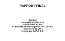Rapport final du BEA: Une suite d'erreurs humaines a causé le crash du vol d'Air Algérie