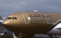 Acquisition par Gulf air de 35 Airbus lors du salon ILA 2008 à Berlin