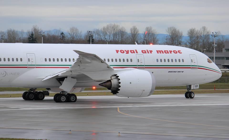 royal air maroc le roi mohammedvi pr side la c r monie de pr sentation du nouveau boeing 787. Black Bedroom Furniture Sets. Home Design Ideas